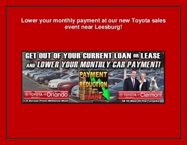 Lower your monthly payment at our new Toyota sales event near Leesburg!