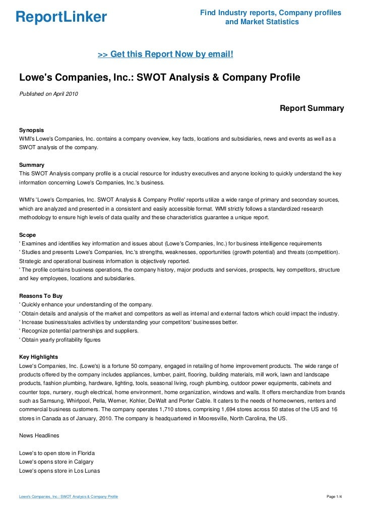case 33 lowe s companies inc Should you invest in lowe's companies, inc (low) this nets out to a decrease of 333 million shares and is the fundamental case for and against duke.