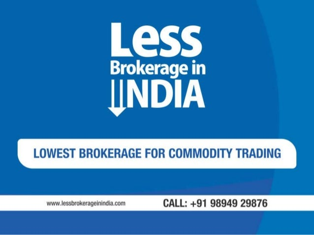 Brokerage charges for option trading in india