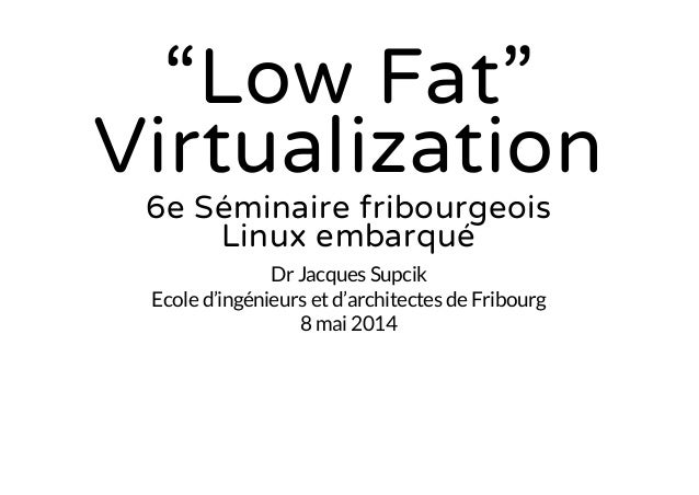 Low fat virtualization for embedded systems