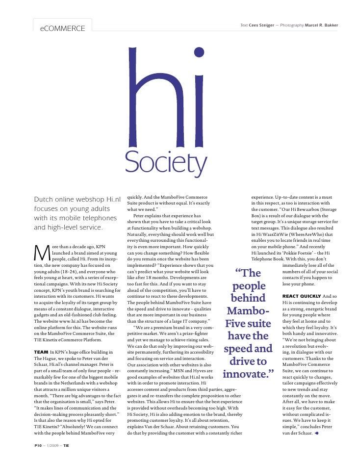 TIE Magazine #1: Hi Society