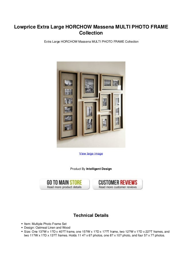 Lowprice Extra Large HORCHOW Massena MULTI PHOTO FRAME                         Collection                Extra Large HORCH...