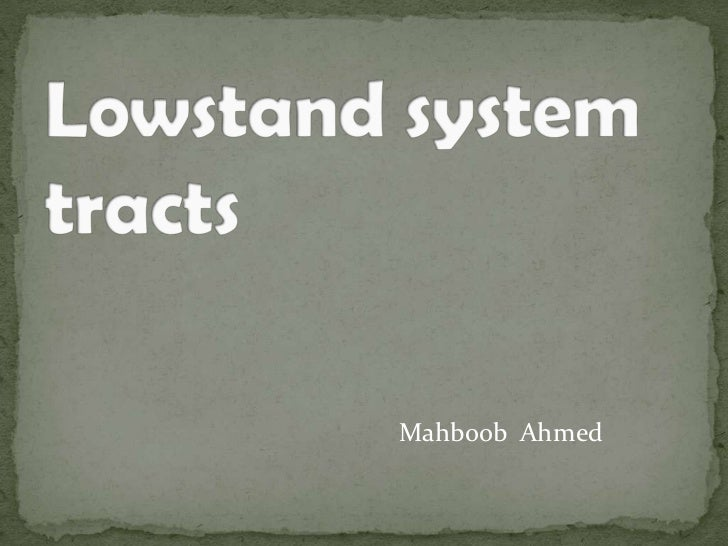 Lowstand system tracts
