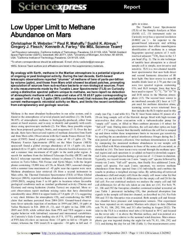 Low upper limit_to_methane_abundance_on_mars