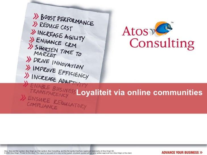 Loyalty & Online Communities
