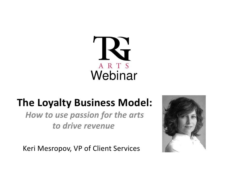 TRG Webinar: The Loyalty Business Model
