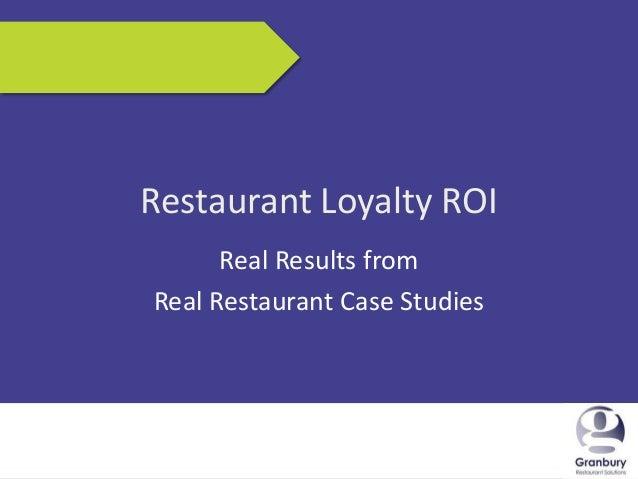 Proven ROI Case Studies for Restaurant Loyalty