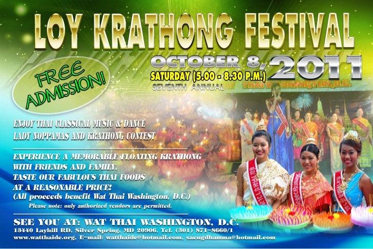 Loykrathong Festival 2011 Wat ThaiDC