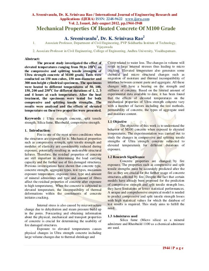 A. Sreenivasulu, Dr. K. Srinivasa Rao / International Journal of Engineering Research and                      Application...