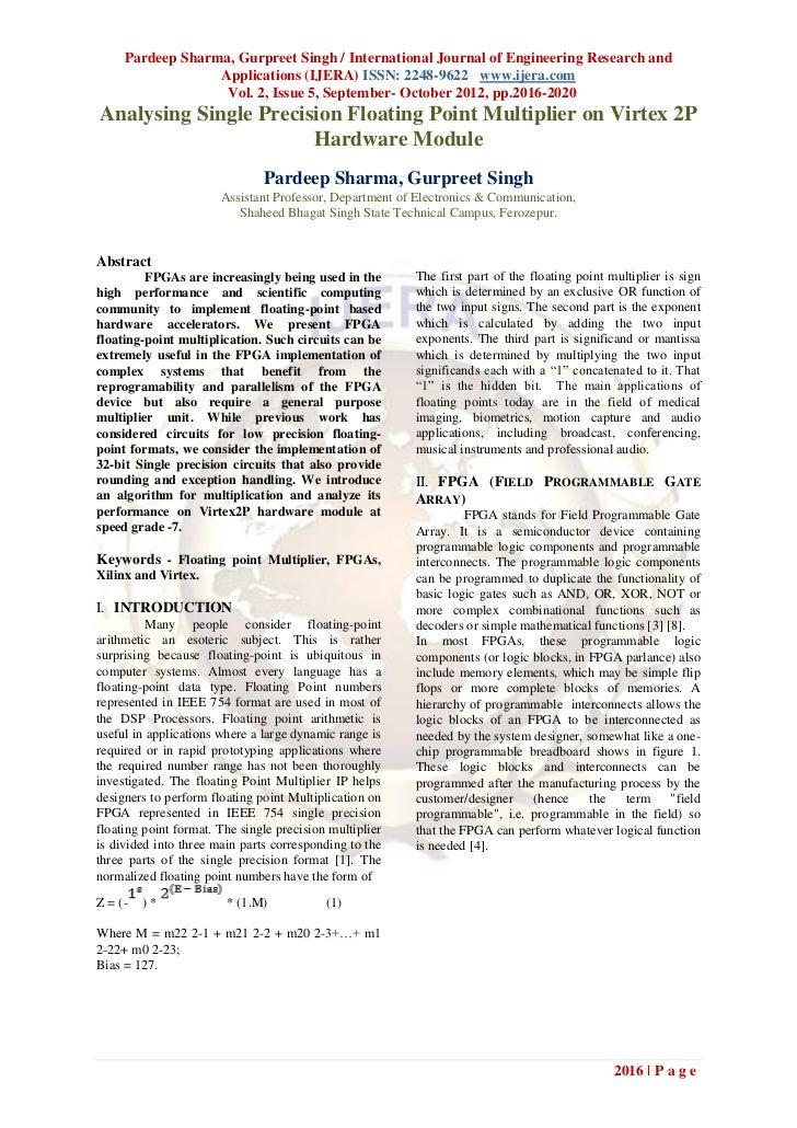 Pardeep Sharma, Gurpreet Singh / International Journal of Engineering Research and                  Applications (IJERA) I...