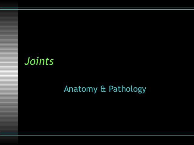 Joints         Anatomy & Pathology