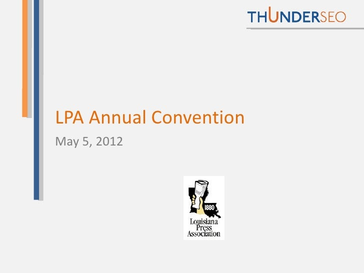 LPA Annual ConventionMay 5, 2012