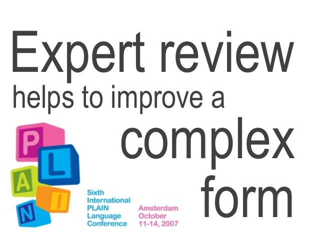 Expert review improves a complex form by @cjforms