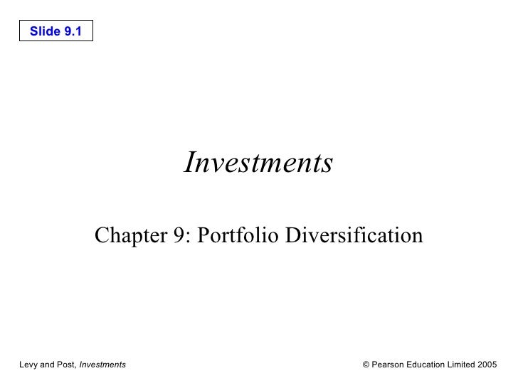 Investments Chapter 9: Portfolio Diversification