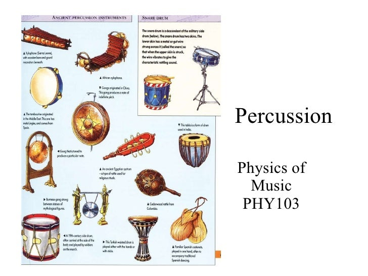 Percussion Physics of Music PHY103