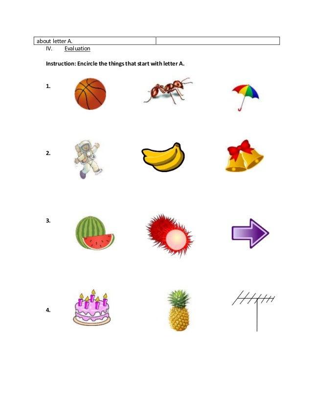Detailed Lesson Plan in English For Kindergarten