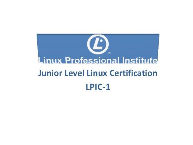 Junior Level Linux Certification LPIC-1