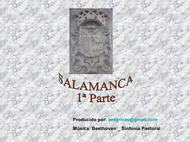 Salamanca primera parte