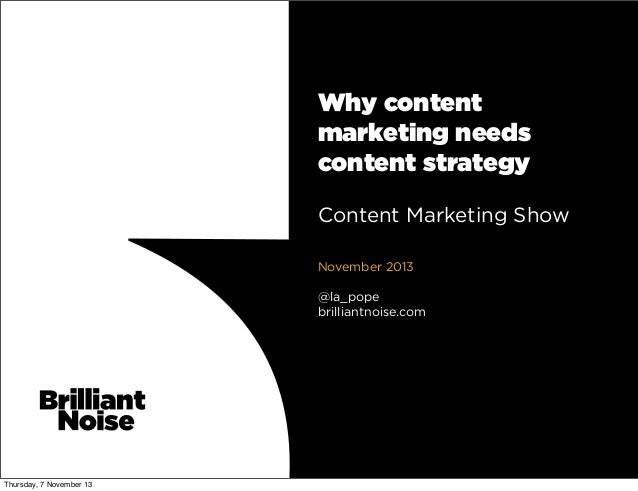 Why content marketing needs content strategey