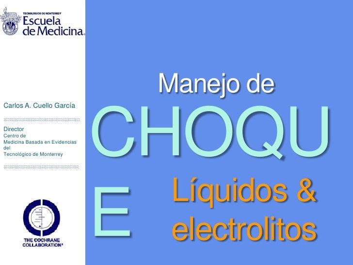 Choque, líquidos y electrolitos en pediatría