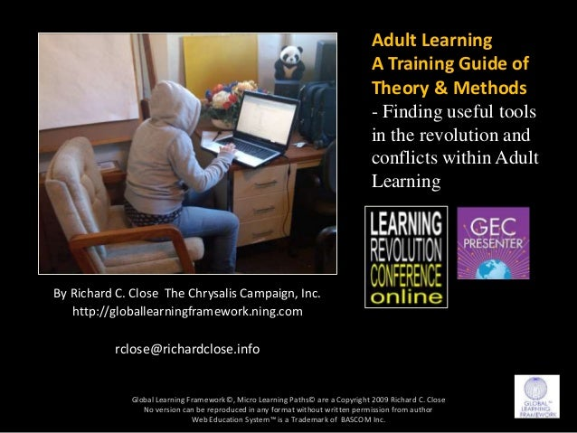 Adult Learning a Training Guide or Theories -Methods - Strategies