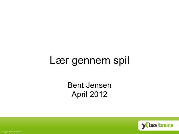 Lær gennem spil april 2012