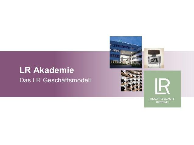 LR Akademie Das LR Geschäftsmodell Grundlagen Marketingplan