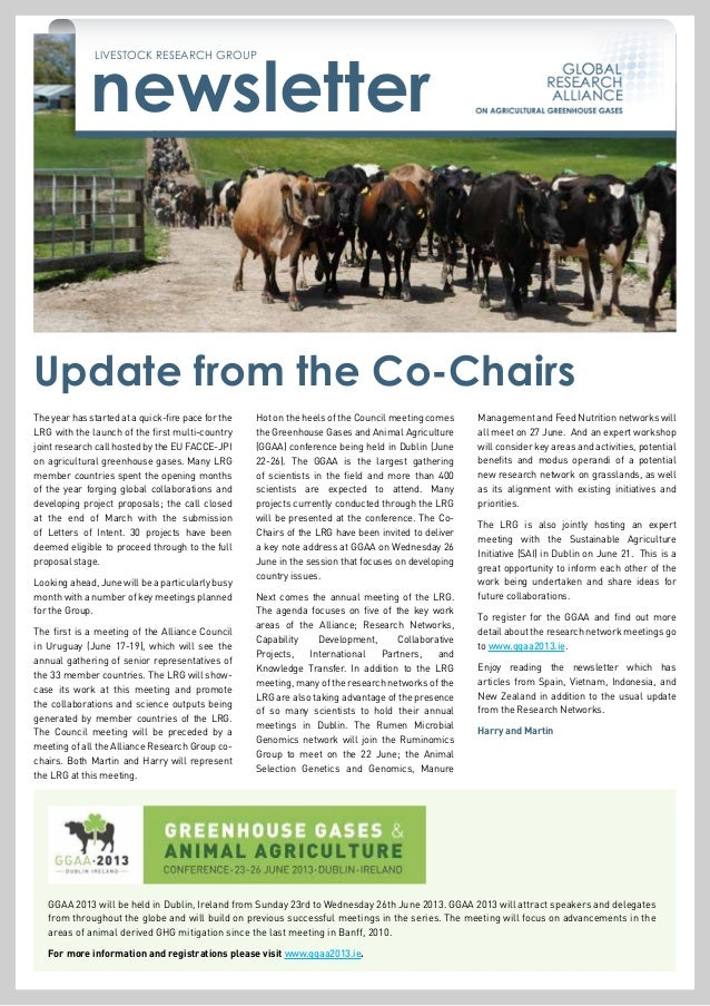 newsletterLIVESTOCK RESEARCH GROUPThe year has started at a quick-fire pace for theLRG with the launch of the first multi-...
