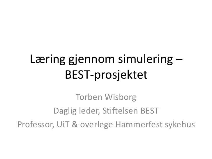 Morgendagens helsearbeidere i nord, Torben Wisborg