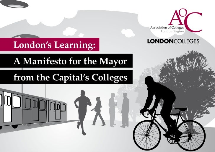 London's Learning: A Manifesto for the Mayor from the Capital's Colleges