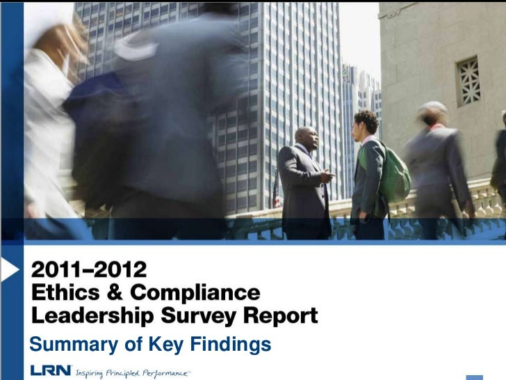 LRN ethics and compliance survey preliminary findings