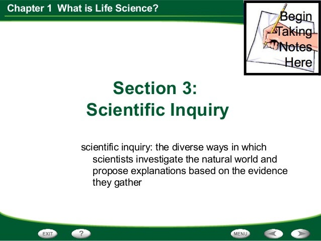 What is a scientific inquiry?