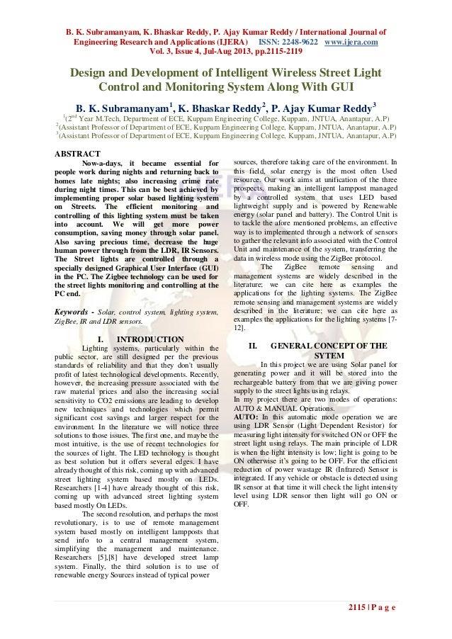 B. K. Subramanyam, K. Bhaskar Reddy, P. Ajay Kumar Reddy / International Journal of Engineering Research and Applications ...