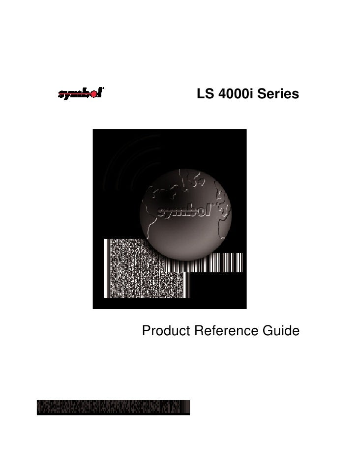 LS 4000i Series     Product Reference Guide