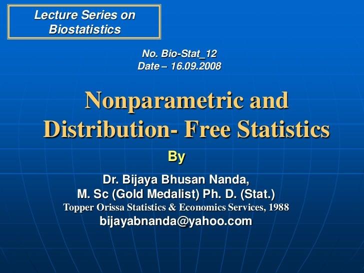 Nonparametric and Distribution- Free Statistics