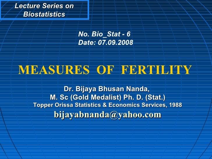 Measures of fertility