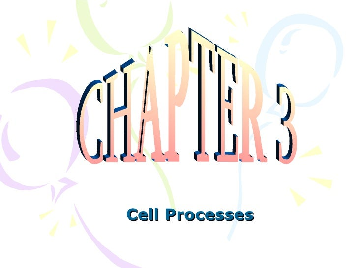 Chapter 3 Notes:  Cell Processes