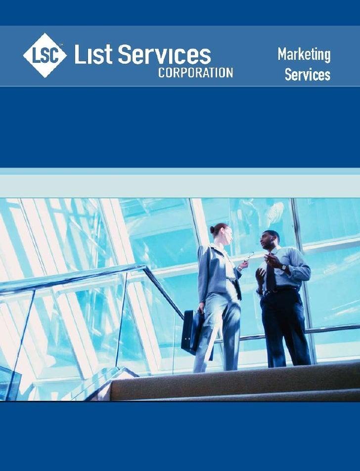 LSC Marketing Services 2010
