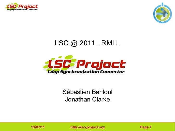 Ldap Synchronization Connector @ 2011.RMLL