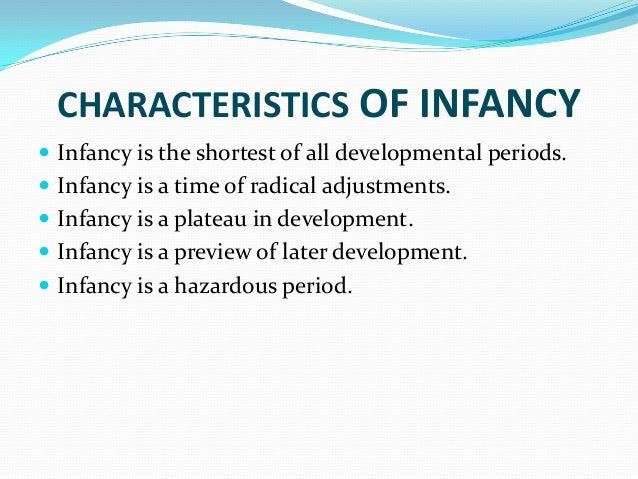 infancy and early childhood developement essay Developmental stages essay adolescence may be divided into three main stages middle childhood (8-11), early emotional and psychological development at this.