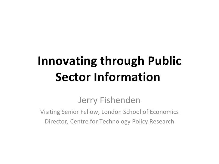 Innovating through public sector information