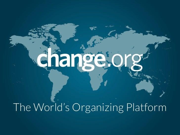The World's Organizing Platform