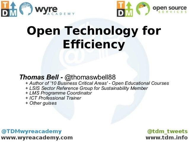 Open eLearning Technology for Efficiency