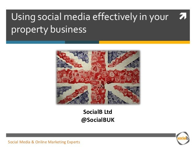 Using social media effectively in the property industry