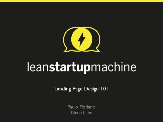 Landing Page Design 101 - Lean Startup Machine SP