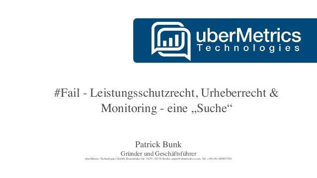 Das Leistungsschutzrecht im Monitoring