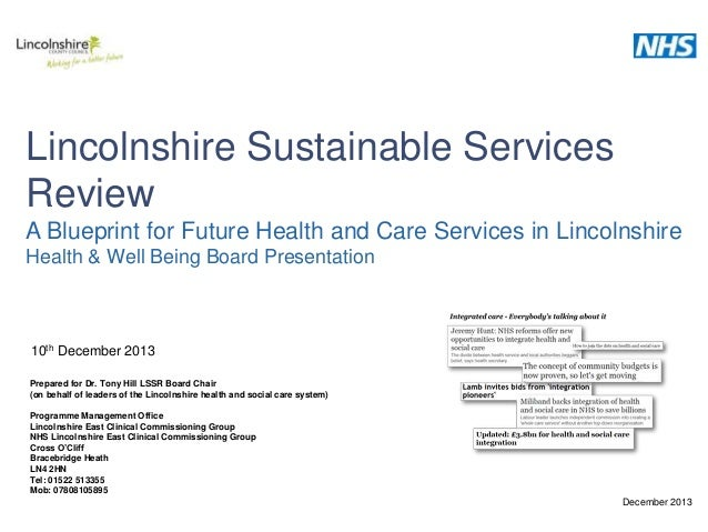 LSSR blueprint Health and Wellbeing Board presentation 12102013