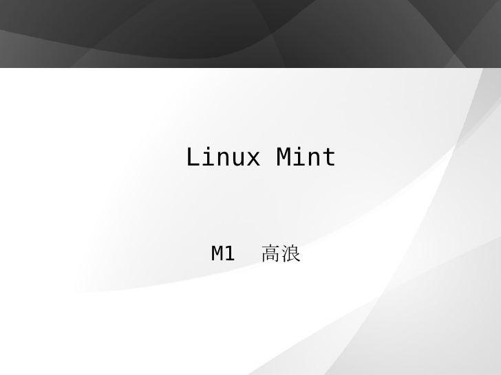 Linux Mint M1  高浪