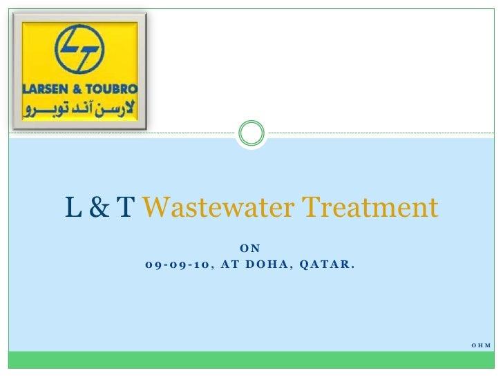 L&t waste water-treatment by Ohm-Srinivas