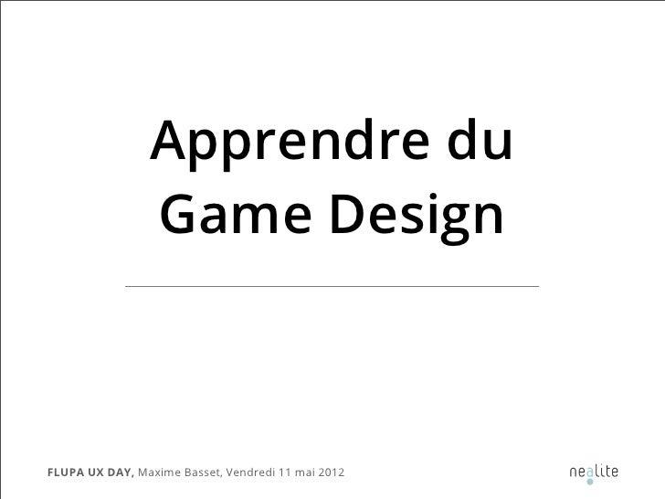 FLUPA UX-Day 2012 - Lightning Talk - Maxime Basset